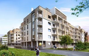 3d render of apartment building