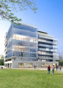 3d render of office building