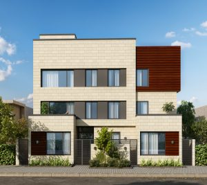 3d render front house
