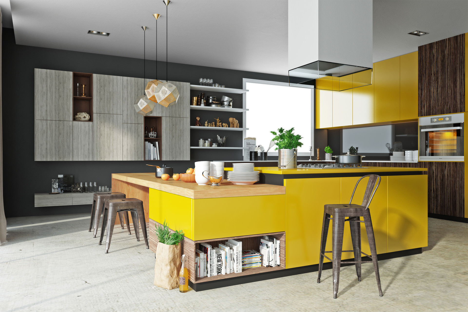 3d render kitchen