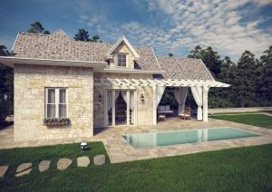 3d home with pool