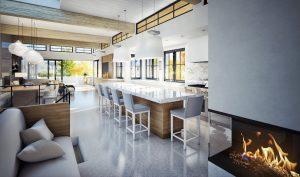3d render kitchen