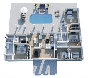 3d floor plan for luxury homes