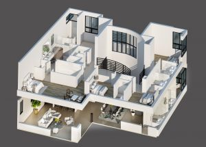 digital floor plan for whole house